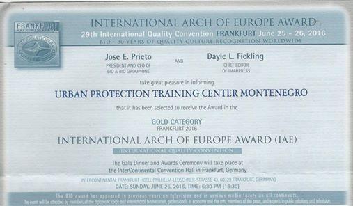 Nagrada na međunarodnoj konvenciji kvaliteta
